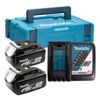 Набор аккумуляторов Makita BL1850B 18В, 5.0 Ач + зарядное устройство
